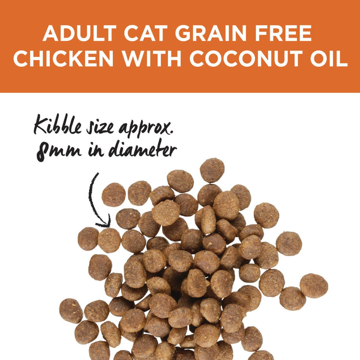 Ivory Coat | Cat Dry GF Chicken & Coconut Oil 3kg | Grain Free Dry Cat Food | Top of pack