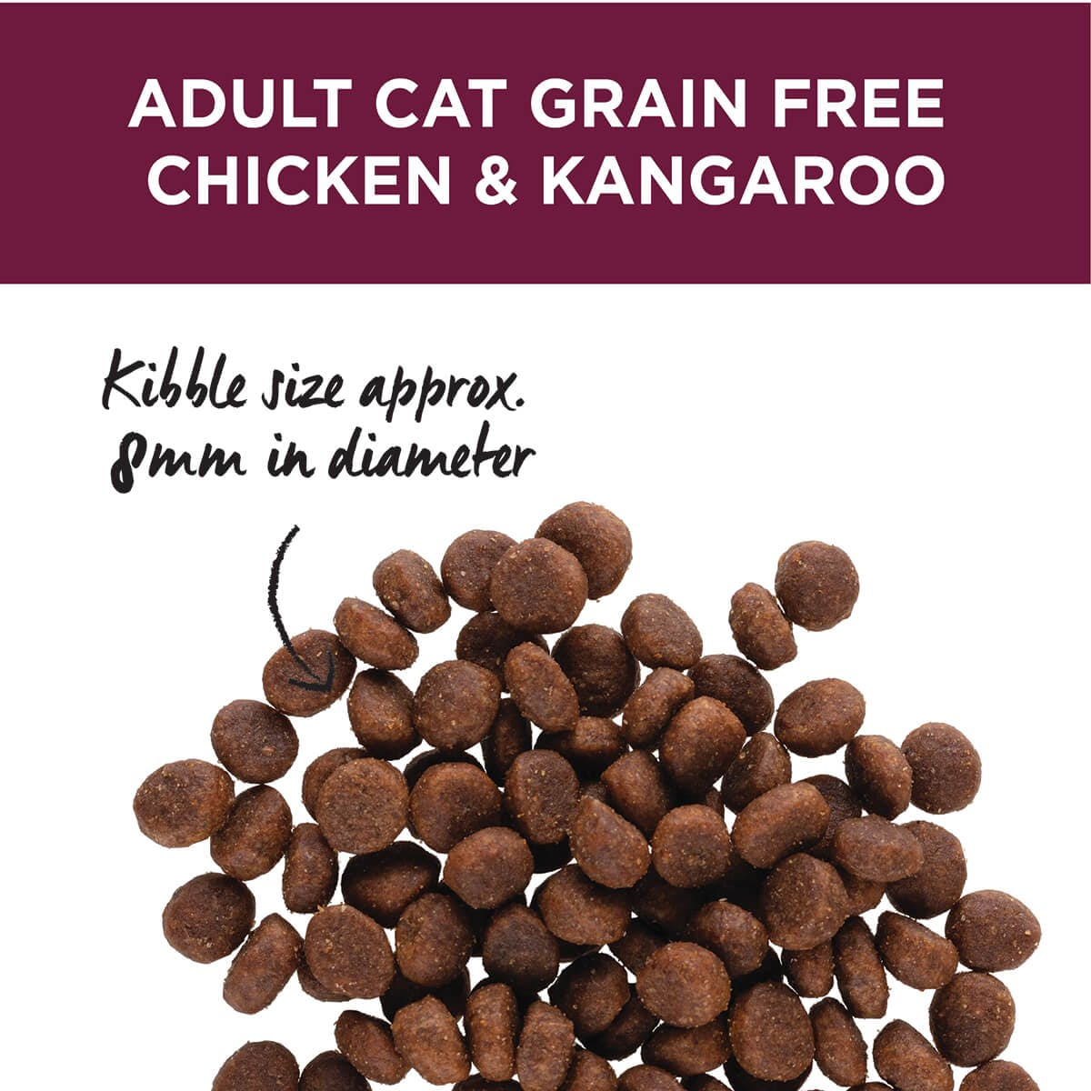 Ivory Coat | Cat Dry GF Chicken & Kangaroo with Coconut Oil 3kg | Grain Free Dry Cat Food | Top of pack