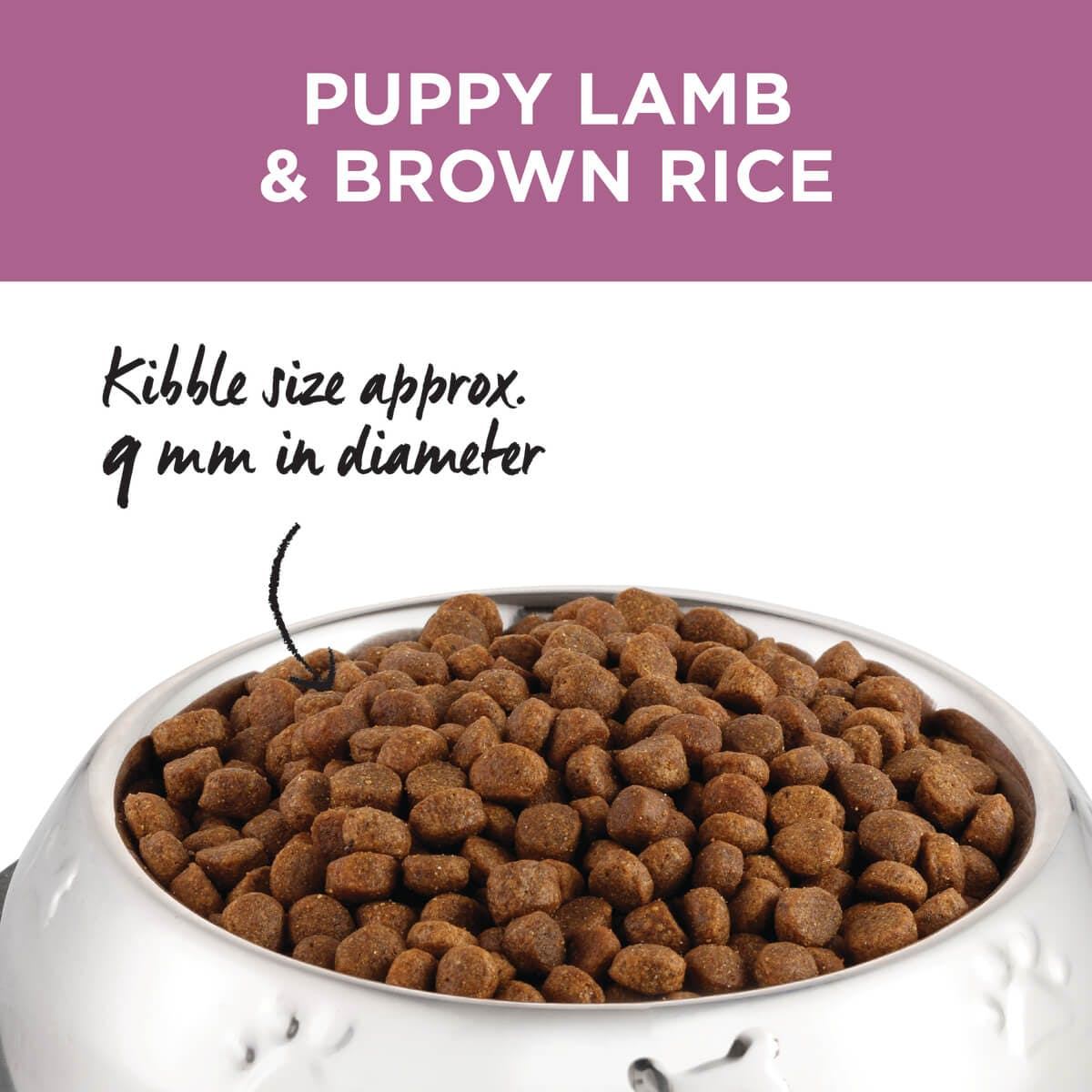 Ivory Coat | Dry Puppy Lamb & Brown Rice 2.5kg | Dry Dog Food | Top of pack