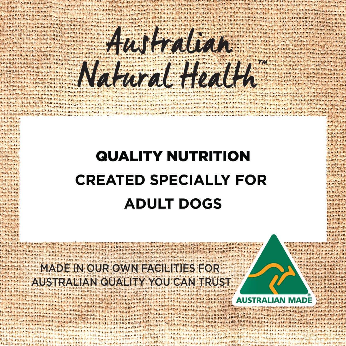 Ivory Coat | Dry GF Lamb & Kangaroo 2kg | Grain Free Dry Dog Food | Back of pack