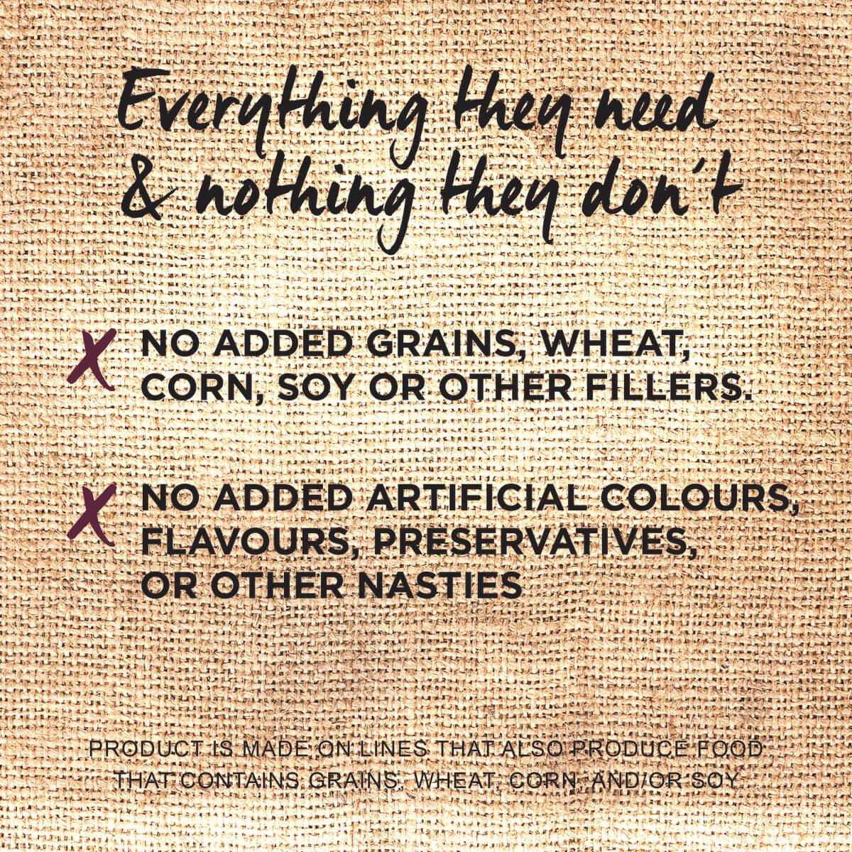 Ivory Coat | Dry GF Lamb & Kangaroo 2kg | Grain Free Dry Dog Food | Bottom of pack