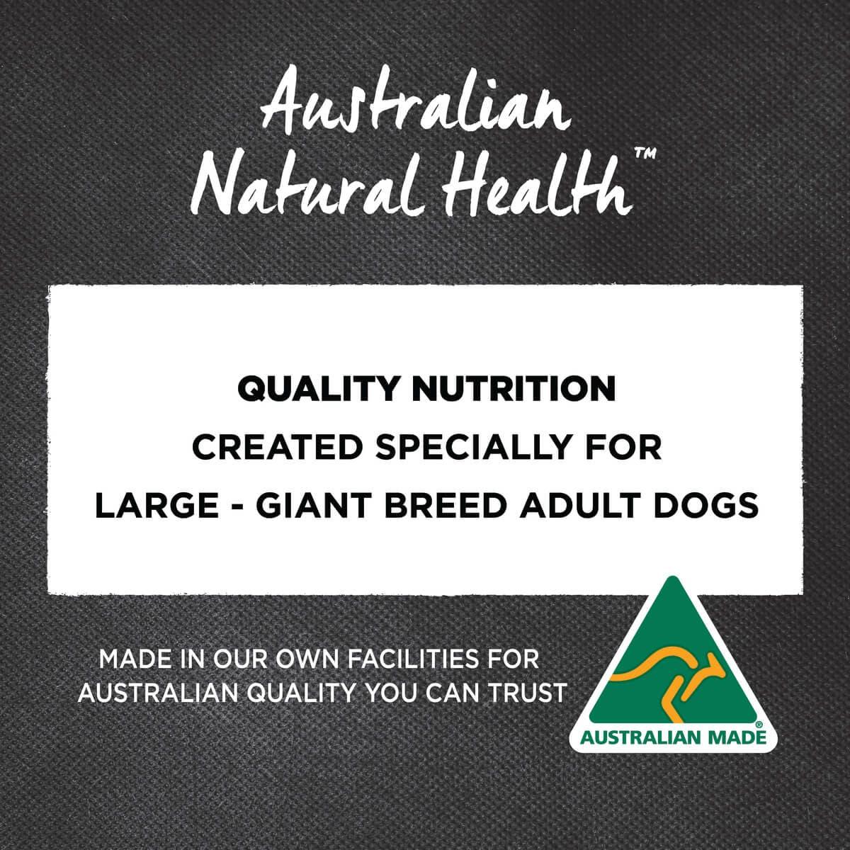 Ivory Coat | Dry Large Adult Turkey & Brown Rice 2.5kg | Dry Dog Food | Back of pack