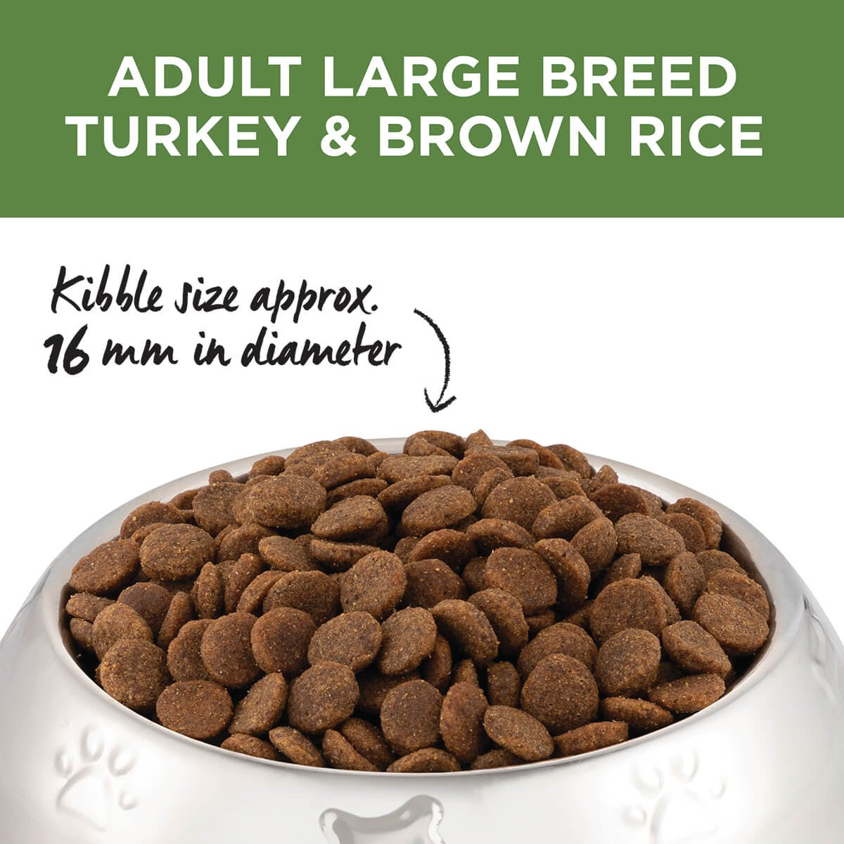 Ivory Coat | Dry Large Adult Turkey & Brown Rice 2.5kg | Dry Dog Food | Top of pack
