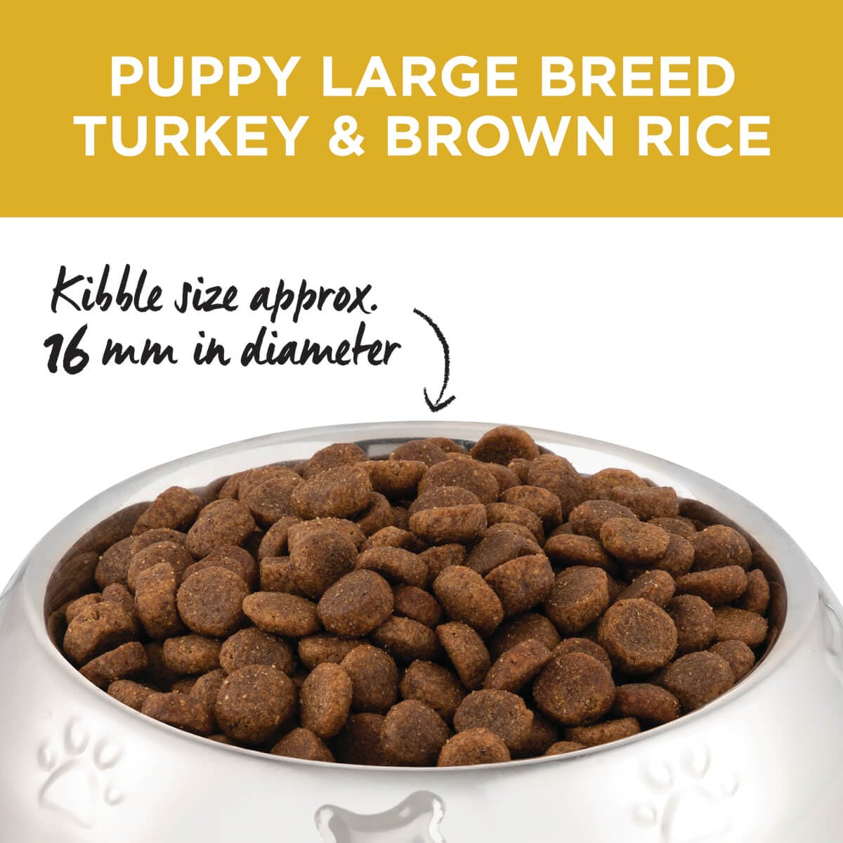 Ivory Coat | Dry Puppy Large Turkey & Brown Rice 2.5kg | Dry Dog Food | Top of pack