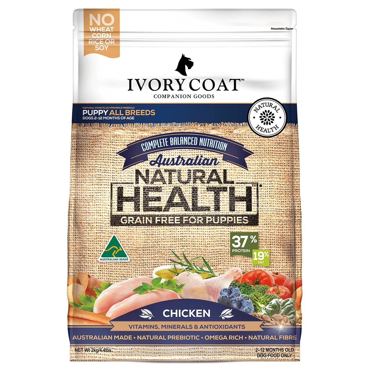 Ivory Coat | Chicken | Dry dog food | Front of pack